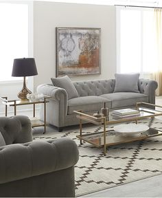 Martha Stewart Collection Saybridge Fabric Sofa: Custom Colors ...