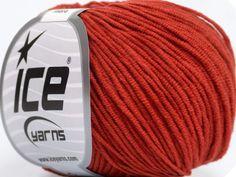Fiber Content 50% Acrylic 50% Cotton Marsala Red Brand Ice Yarns fnt2-43833