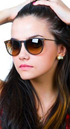 Óculos Ray Ban Erika Acetato Médio RB4171 Marrom Demi Fosco Unissex