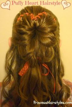 Puffy #heart hairstyle tutorial