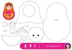 matryoshka applique template..cool! I have been wanting to create a Matryoshka feltie! This will get me started!