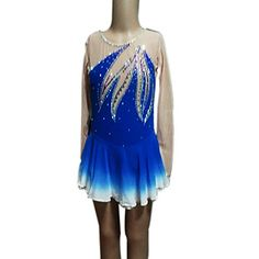 Girl's Blue Spandex Figure Skating Dress(Assorted Size) - USD $ 99.99