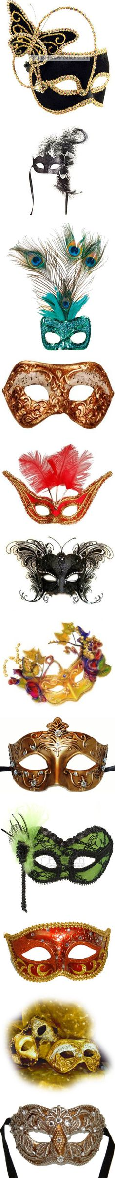 """""""masquerade masks"""" by terrilewis ❤ liked on Polyvore"""