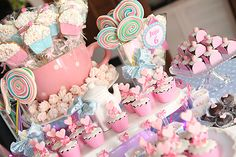 festa infantil rosa cupcakes menina  constncezahn.com