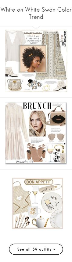 """""""White on White Swan Color Trend"""" by yours-styling-best-friend ❤ liked on Polyvore featuring Chloé, Jonathan Simkhai, IRO, Bobbi Brown Cosmetics, Tory Burch, Louis Vuitton, monochrome, ankleboots, embellishedshoes and casah"""