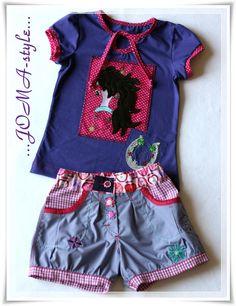 T-Shirt-Schnitt: Antonia von Farbenmix Pumphose: Blomma (Unella-Blomma) von Farbenmix