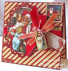 This stunning card is made by @Gloria Mladineo Stengel with Place in Time and Nutcracker Sweet! #graphic45 #craftnthings  #cards