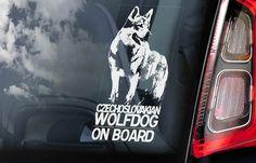 Czechoslovakian Wolfdog on Board Car Window Sticker Vlcak