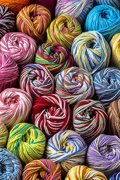 Beautiful Yarn Photograph by Garry Gay - Beautiful Yarn Fine Art Prints and Posters for Sale Tile Patterns, Knitting Patterns, Crochet Patterns, Yarn Color Combinations, Color Schemes, Magic Crafts, Yarn Storage, Sale Poster, Hand Dyed Yarn
