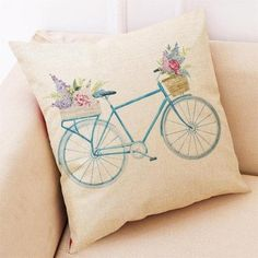 "Shape: SquarePattern: BatikUse: Seat,DecorativeTechnics: Wovenis_customized: YesMaterial: Linen / CottonPattern Type: FloralModel Number: Cushion Cover 45*45,pillow cover,decorative pillowsStyle: cartoonpillow Cover: Cushion Cover Size: 18"" x 18"". Color: Multicolor. Pattern: Graphic Print."