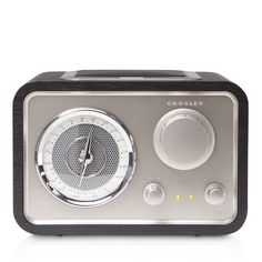 Crosley Solo Radio - Combine slick mid-century aesthetic with audiophile sound in the Solo Radio. Tune into the radio with the aviator-style dial, or plug in another audio device to be your own DJ.