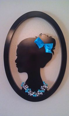 Creative Wall Cameo for Girl's Bedroom  Jewelry by kellzstuff, $75.00