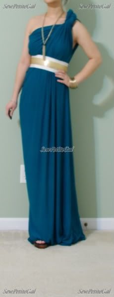 Greek Goddess Inspired Draped Maxi DIY Maxi Dress ~ you will need 2-3 yards of 60 jersey, Matching thread and a belt. Sew only 2 seams - one side  seam  the hem