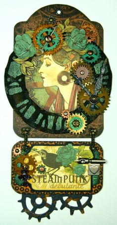 steampunk debutante tag by Andrew Roberts #graphic45