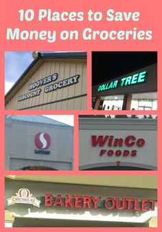 Check out these stores where you can be saving money on groceries.