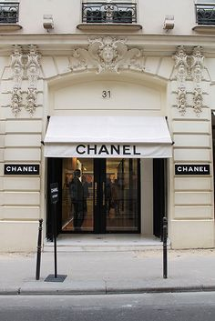 Beautiful Chanel store in Paris, France    Maybe one day :)