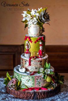 The Twelve Days of Christmas - Cake by Veronica Seta Merry Christmas To You, Twelve Days Of Christmas, Christmas Cakes, Christmas Parties, Pretty Cakes, Beautiful Cakes, Amazing Cakes, Cake Wrecks, Sugar Craft