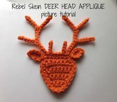 Hello out there in crochet land! I've revised my Deer Head Applique pattern. I've made a couple of minor changes regarding the spacing of th...