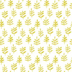Mini Sprigs citron fabric by jillbyers on Spoonflower - custom fabric