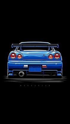 Nissan Gtr R34, Skyline Gtr R34, Jdm Wallpaper, Nissan Gtr Wallpapers, Car Wallpapers, Wallpaper Carros, Jaguar, Automobile, Br Car