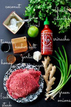 spicy sriracha steak lettuce wraps (simply scratch)