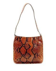 d6e7cfa7054a Prada Pitone Genuine Snakeskin Leather Shoulder Bag 810 Condition - Made in  Ita