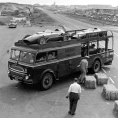 Scuderia Ferrari Transporter, ca 1959  If you're not good enough for winning in an F1 car, this is the next best thing.
