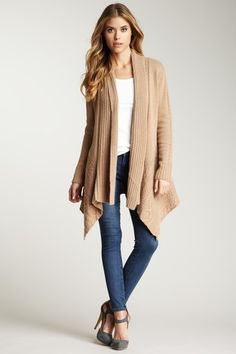 Autumn Cashmere New Cable Knit Draped Cardigan on HauteLook