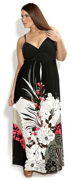 Summer Fashion: Big size outfit ideas for the women - Outfits Für Frauren - Mode Look Plus Size, Curvy Plus Size, Plus Size Women, Xl Mode, Mode Plus, Curvy Girl Fashion, Plus Size Fashion, Plus Size Dresses, Plus Size Outfits