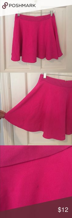 NastyGal Circle Skirt Hot pink circle skirt. Slightly high waisted and flows out. Size small runs true to size. Fits a 2/4. Brand is lush bought it at nasty gal Lush Skirts Circle & Skater