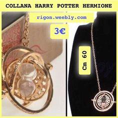 COLLANA HARRY POTTER HERMIONE DORATA 60 Cm - CLESSIDRA 3€ - GIRATEMPO