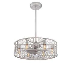Boyd Collection 26 in. Platinum Indoor Ceiling Fan