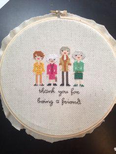 Golden Girls cross stitch - May 2014