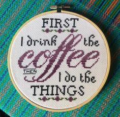 Coffee cross stitch. ☕