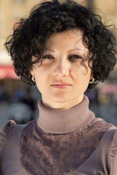 Asymmetrical Short Curly Hair besides Cincinnati Wedding Hair besides ...