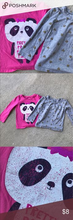 ❤️🐼Girls Long-sleeve Shirts Panda and Hearts Great deal on two amazing shirts. Panda shirt from Ild Navy and Heart shirt by Gap. Some fading and a small mark on the Panda shirt as indicated in the picture. Bundle with my other kids items and save even more with bundle discount 💰💰💰 Old Navy and Gap Shirts & Tops Tees - Long Sleeve