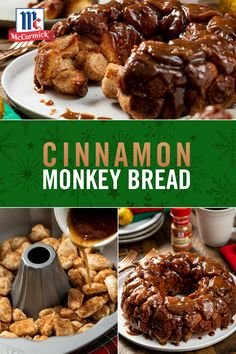 We wait all year for an excuse to make Cinnamon Monkey Bread! Serve as a holiday dessert or a super decadent Christmas morning breakfast treat. Sweet, sticky, and totally delicious--this may become your new favorite holiday recipe. Christmas Breakfast, Christmas Morning, Holiday Desserts, Holiday Recipes, Cinnamon Monkey Bread, Cinnamon Rolls, Breakfast Recipes, Dessert Recipes, Dessert Bread