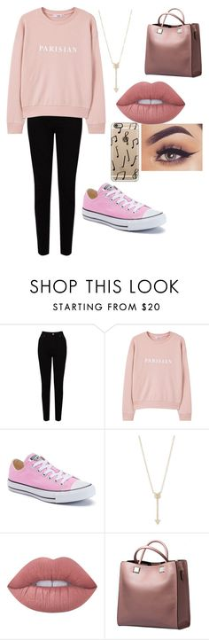 """Cute pink "" by sarahype on Polyvore featuring EAST, MANGO, Converse, EF Collection, Lime Crime and Casetify"