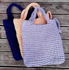 Bolsas de punto / cuerda de bolsas / hecho a por NataNatastudio