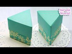 Origami - Triangle Box & Lid, Triangular Gift Box (How to make a Paper box) - YouTube