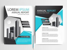 Company Portfolio, Report Design, Business Brochure, Presentation Design, For Everyone, Brochure Template, Lorem Ipsum, Geometric Shapes, Vector Free