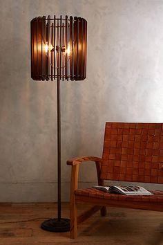 Slatted Woodchime Floor Lamp