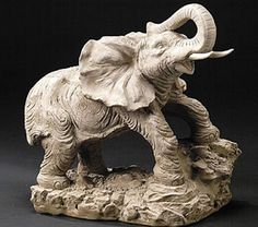 Study of the Elephant Sculpture by Artist Attila Tivadar. Available at AllSculptures.com
