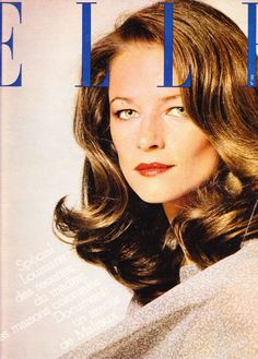 Charlotte Rampling - French Elle cover - May 1976 Dress: Yves Saint Laurent Makeup: Charles of the Ritz Photo: Peter Knapp