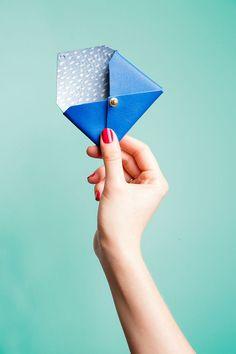 DIY - Mini envelopes en cuir pour un petit porte-feuille / DIY Mini Leather Envelopes Tutorial