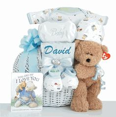 """Little Miracle"" Gift Basket (Blue)"