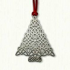 "Celtic Tree Ornament Size: 3"" x 2 1/2"" Cost: $14.95 Velveteen pouch included"