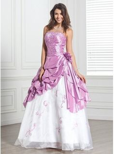 Quinceanera Dresses - $202.99 - Ball-Gown Strapless Floor-Length Taffeta Organza Quinceanera Dress With Beading Flower(s)  http://www.dressfirst.com/Ball-Gown-Strapless-Floor-Length-Taffeta-Organza-Quinceanera-Dress-With-Beading-Flower-S-021020890-g20890