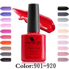 #61508 무료 배송 네일 아트 디자인 매니큐어 Venalisa 새로운 60 컬러 7.5 미리리터 젤 폴란드어 자외선 젤 매니큐어 젤 래커