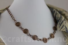 Wirewrapped copper spiral necklace · tomicrafts · Online Store Powered by Storenvy